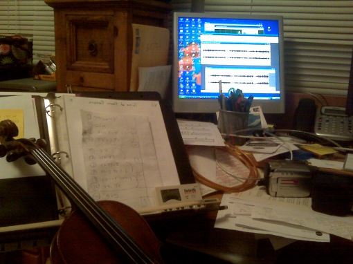 Woodshedding the parts I'm transcribing