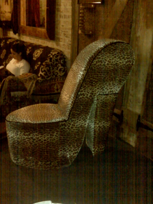 Groovy chair in the history-rich, funk-a-licious studio we used in NoHo