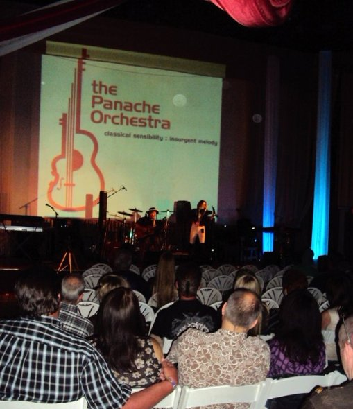 The Panache Orchestra opening for KanVas at the Plaza Theatre in Santa Clarita on 10 June 2011