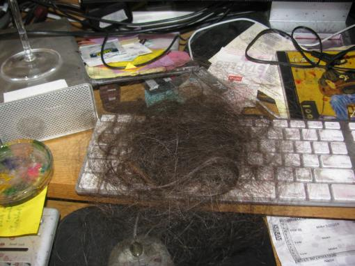 hair torn out in DV incident